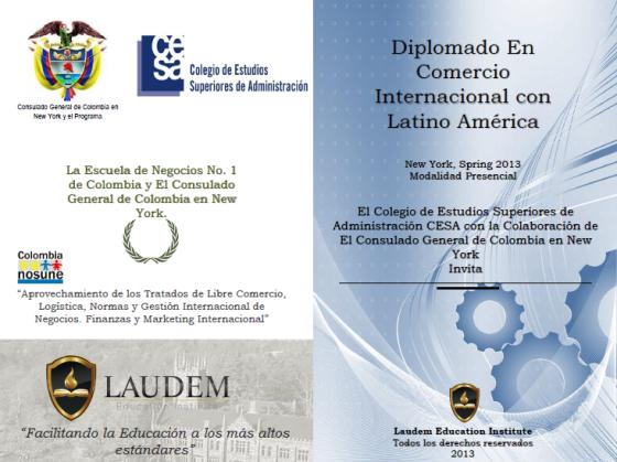 Diplomado CESA NY, Spring 2013