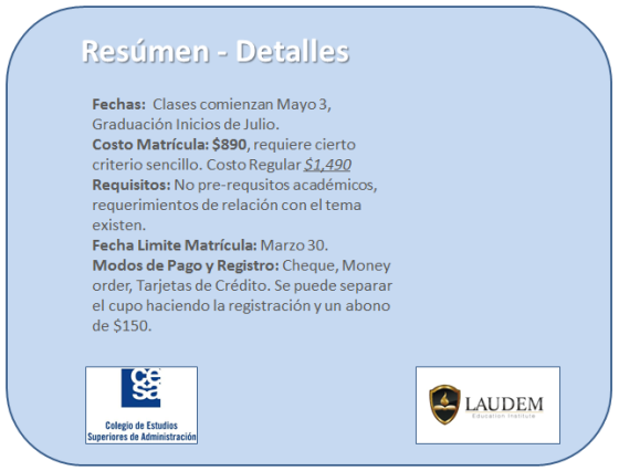 Laudem-CESA-Diplomado-Det-Summary