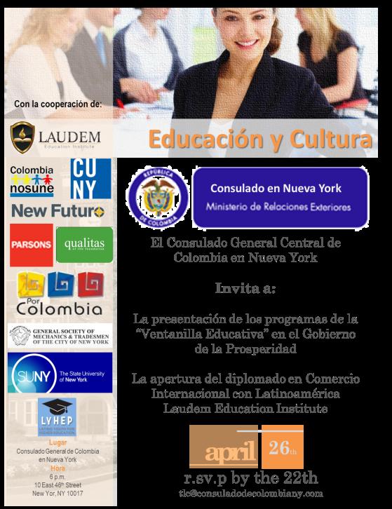 Laudem Abril 26., conversatorio Iniciativas Consulado Educacion