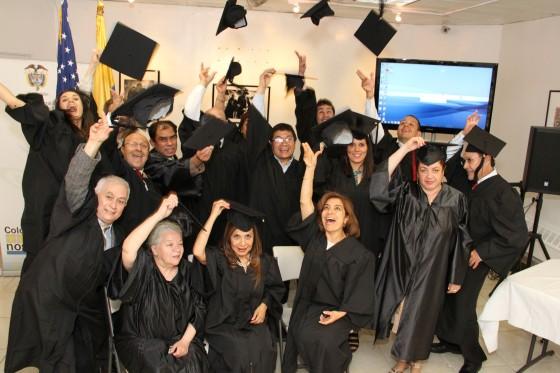 Primera Promoción Estudiantes Diplomado Comercio Internacional con Latinoamérica. CESA- Laudem. Consulado General de Colombia en Nueva York.