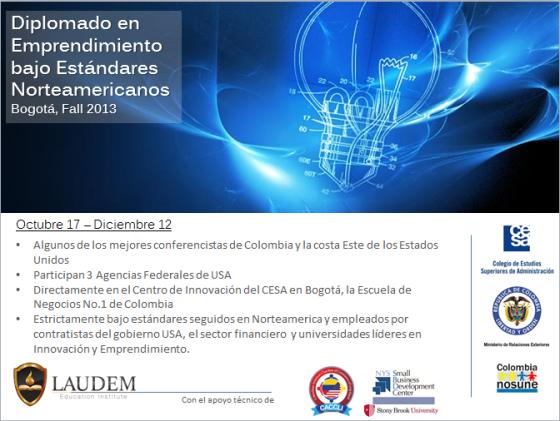 Diplomado en Emprendimiento bajo estandares Norteamericanos